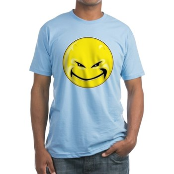 Smiley Face - Yellow Devil Fitted T-Shirt