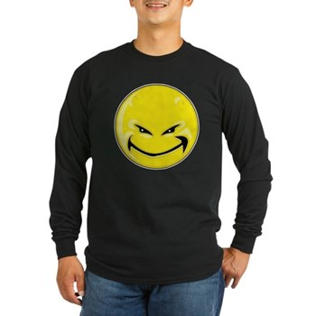 Smiley Face - Yellow Devil Long Sleeve Dark T-Shir