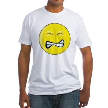 Smiley Face - Grimace Fitted T-Shirt