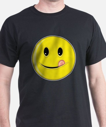 Smiley Face - Licking Lips T-Shirt