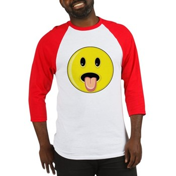 Smiley Face - Tongue Out Baseball Jersey