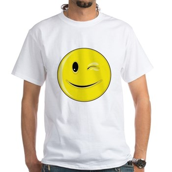 Smiley Face - Wink White T-Shirt