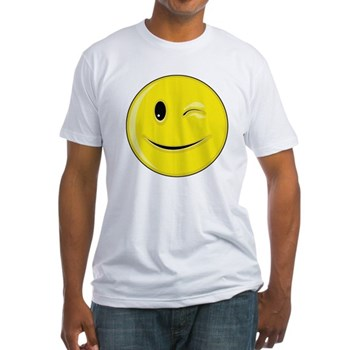 Smiley Face - Wink Fitted T-Shirt