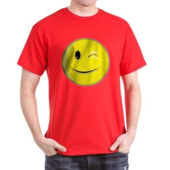 Smiley Face - Wink Dark T-Shirt