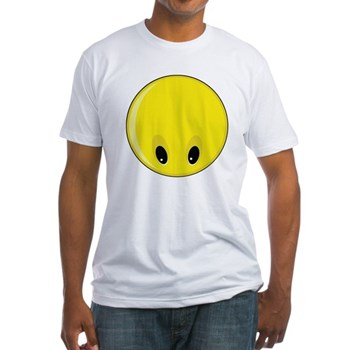 Smiley Face - Looking Down Fitted T-Shirt