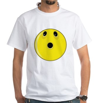Smiley Face - Looking Up White T-Shirt