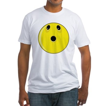 Smiley Face - Looking Up Fitted T-Shirt