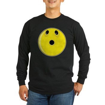 Smiley Face - Looking Up Long Sleeve Dark T-Shirt
