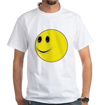 Smiley Face - Looking Right White T-Shirt