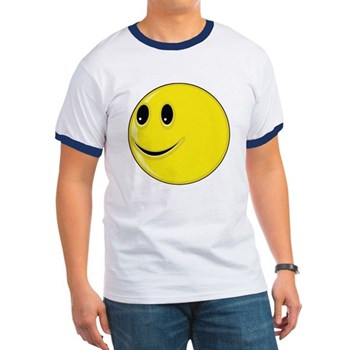 Smiley Face - Looking Right Ringer T