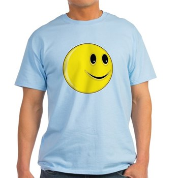 Smiley Face - Looking Left Light T-Shirt