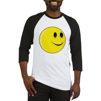 Smiley Face - Looking Left Baseball Jersey
