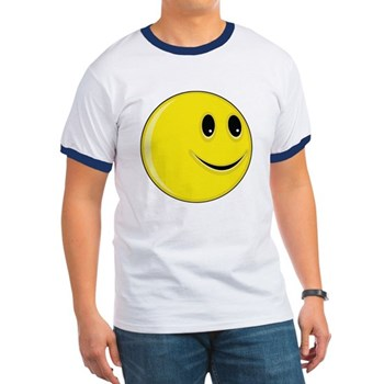 Smiley Face - Looking Left Ringer T