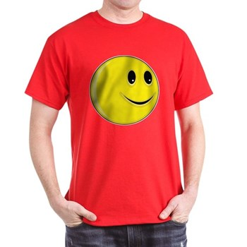 Smiley Face - Looking Left Dark T-Shirt