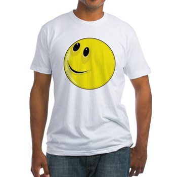 Smiley Face - Looking Up & Right Fitted T-Shirt