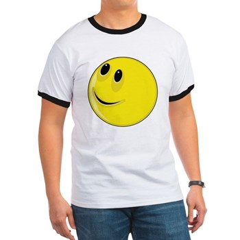 Smiley Face - Looking Up & Right Ringer T