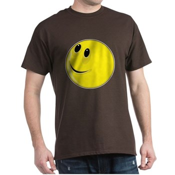 Smiley Face - Looking Up & Right Dark T-Shirt