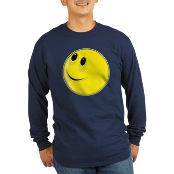 Smiley Face - Looking Up & Right Long Sleeve Dark