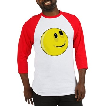 Smiley Face - Up & Left Baseball Jersey