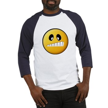 Confused Smiley Baseball Jersey