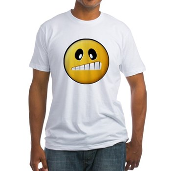 Confused Smiley Fitted T-Shirt