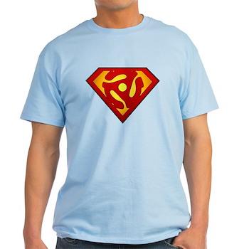 Super DJ 45 RPM Adapter Light T-Shirt