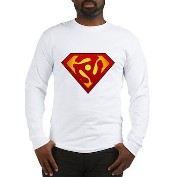 Super DJ 45 RPM Adapter Long Sleeve T-Shirt