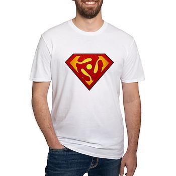 Super DJ 45 RPM Adapter Fitted T-Shirt