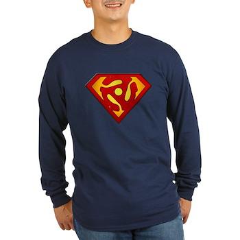 Super DJ 45 RPM Adapter Long Sleeve Dark T-Shirt