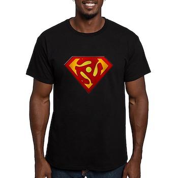 Super DJ 45 RPM Adapter Men's Fitted T-Shirt (dark