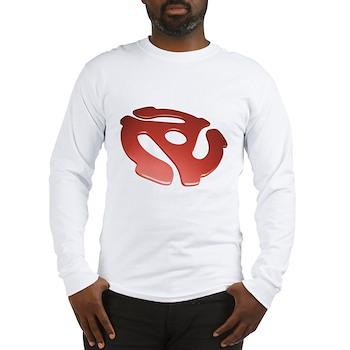 Red 3D 45 RPM Adapter Long Sleeve T-Shirt