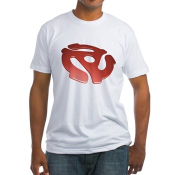Red 3D 45 RPM Adapter Fitted T-Shirt