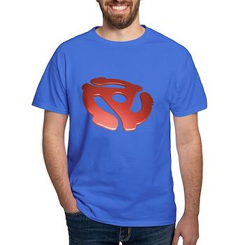 Red 3D 45 RPM Adapter Dark T-Shirt