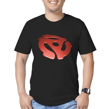 Red 3D 45 RPM Adapter Men's Fitted T-Shirt (dark)