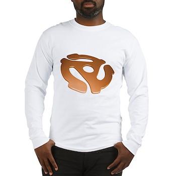 Orange 3D 45 RPM Adapter Long Sleeve T-Shirt