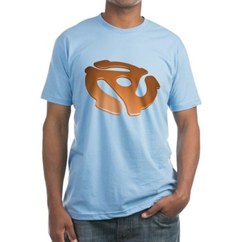 Orange 3D 45 RPM Adapter Fitted T-Shirt