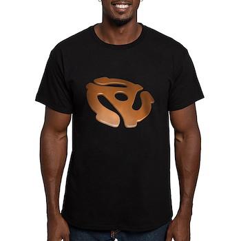 Orange 3D 45 RPM Adapter Men's Fitted T-Shirt (dar
