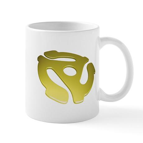 Gold 3D 45 RPM Adapter Mug
