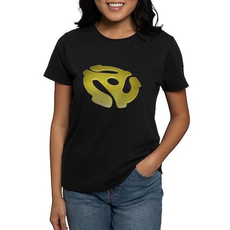 Gold 3D 45 RPM Adapter Women's Dark T-Shirt