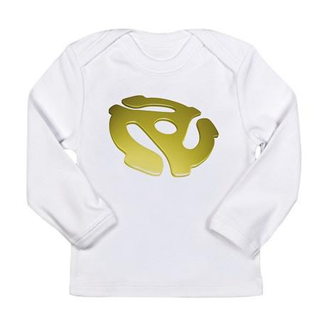 Gold 3D 45 RPM Adapter Long Sleeve Infant T-Shirt