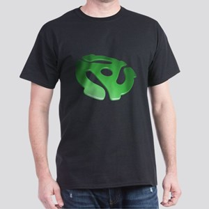 Green 3D 45 RPM Adapter Dark T-Shirt