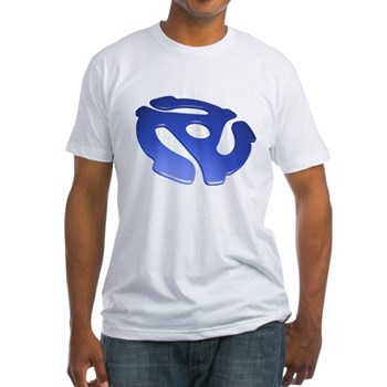 Blue 3D 45 RPM Adapter Fitted T-Shirt