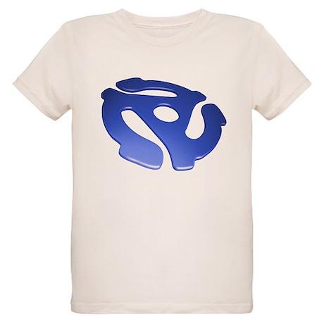 Blue 3D 45 RPM Adapter Organic Kids T-Shirt