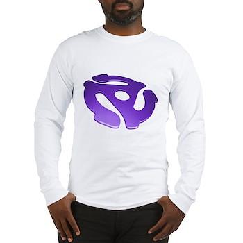 Purple 3D 45 RPM Adapter Long Sleeve T-Shirt