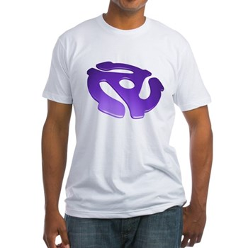 Purple 3D 45 RPM Adapter Fitted T-Shirt