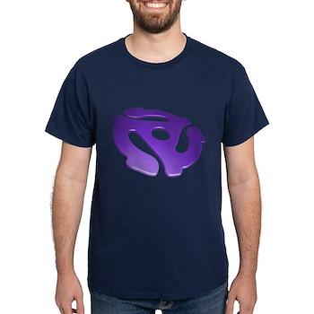 Purple 3D 45 RPM Adapter Dark T-Shirt