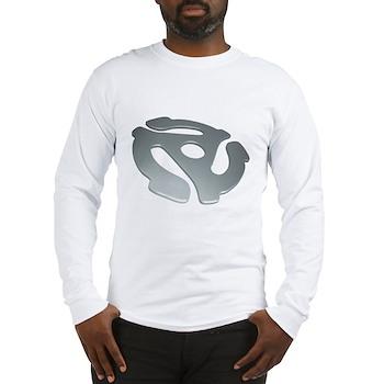 Silver 3D 45 RPM Adapter Long Sleeve T-Shirt