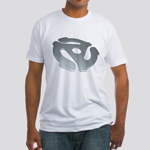 Silver 3D 45 RPM Adapter Fitted T-Shirt