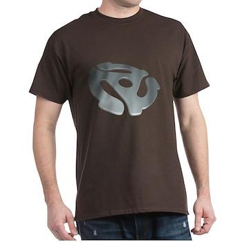 Silver 3D 45 RPM Adapter Dark T-Shirt