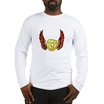Red Winged 45 RPM Adapter Long Sleeve T-Shirt